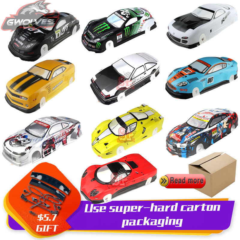 37 Species 1/10 RC Car 195/190mm PVC Painted Body Shell With Tail For 1:10 RC Hobby Racing Drift Car Hsp Yokomo Hpi ZD TAMIYA