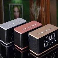 New Bluetooth Audio Digital Clock Multifunction Big Display Mirror Clock Portable Subwoofer Alarm Clock With Card