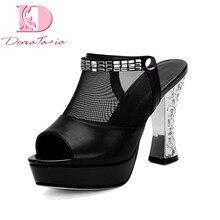 DoraTasia talla grande 33-44 zapatos de tacón alto con plataforma de la  mejor calidad zapatos de verano para mujer bd367521e94c
