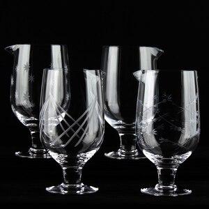 Image 2 - Darmowa wysyłka japoński wzór 750ml Stemmed mieszanie szkła do narzędzia barman koktajl
