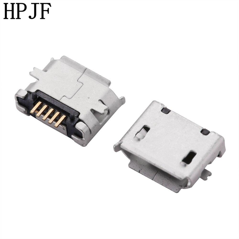 10 PCS Micro USB 5 P, 5-Pin SMD SMT Jack Micro USB, 5 Pinos Conector Micro USB Cauda Tomada de carga