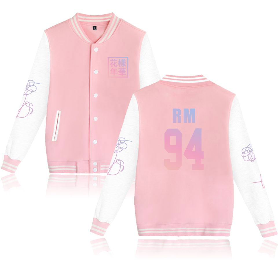 SMZY Love Yourself Jacket Bangtan ARMY Fashion Casual Winter Women K Pop Young Forever Fans Baseball Jacket Clothes