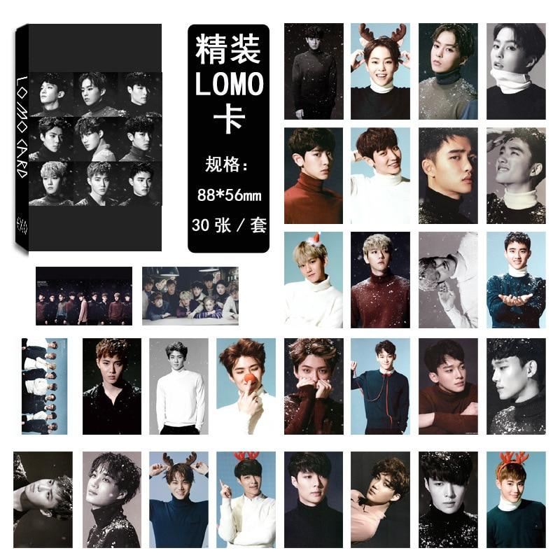 Kpop EXO same paragraph collective models EX'ACT LOMO card ...