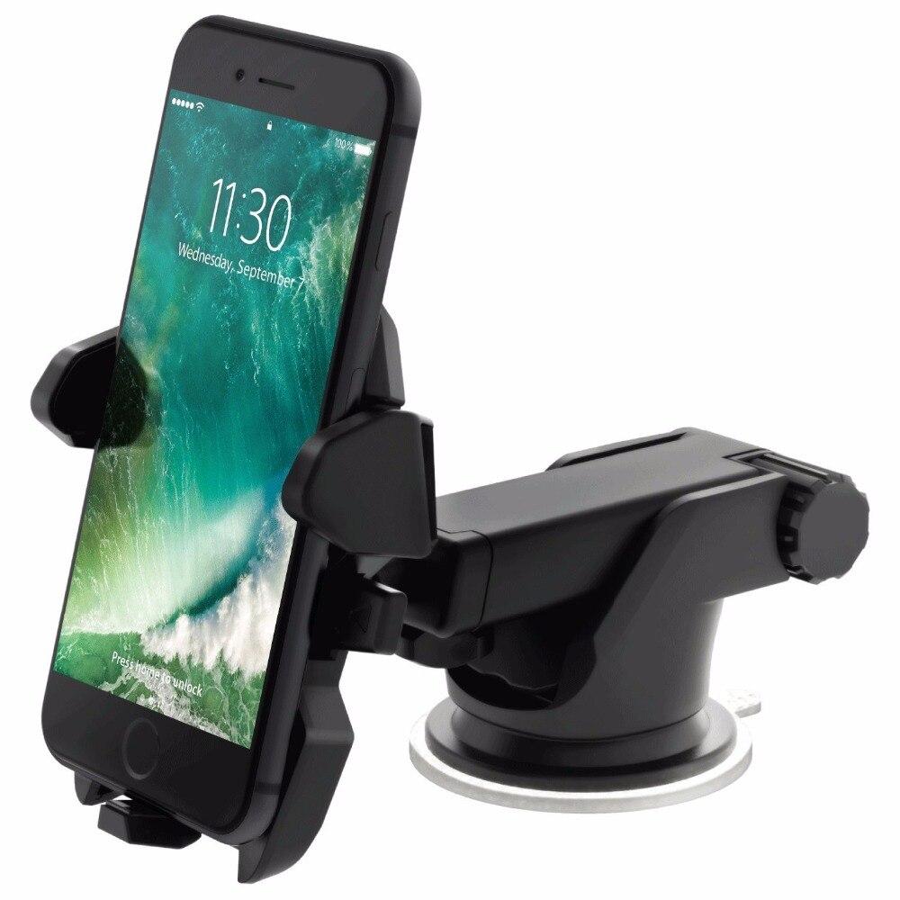 imágenes para Soporte para coche stickey teléfono inteligente de navegación de succión 360 rotación ajustable 4-6 pulgadas soporte para meizu huawei uno más iphone redmi