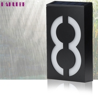 High Quality Solar Power LED Light Sign House Hotel Door Address Plaque Number Digits Plate