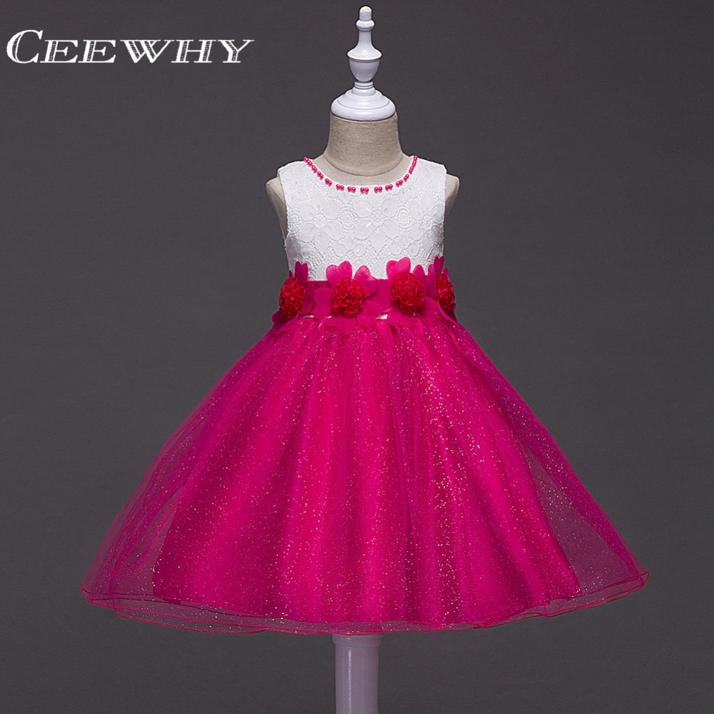 CEEWHY Ball Gown Appliques Baby Princess   Girls     Dress   Sweety Wedding Party Performance   Dress   First Comunion   Flower     Girl     Dresses