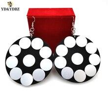 YD&YDBZ 2019 Fashion New Handmade Round Earrings Womens Big Drop Trendy Accessories Gift Girl Jewellery Punk Style