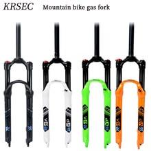 KRSEC MTB Bicycle Oil and Gas Fork 29 27.5 26er Manual control local premium -black teflon coating inner tube suspension fork