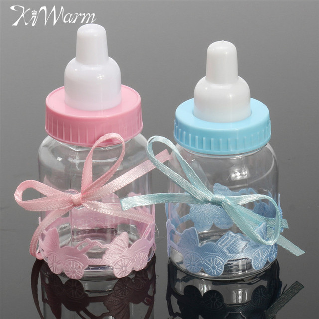 Charmant KiWarm Hot Sale 12pcs/set Fillable Bottles Mini Candy Box Baby Shower  Baptism Party Favour