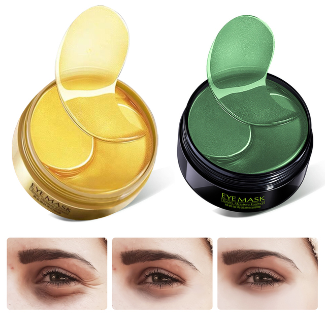 Moisturizing Gold/Seaweed Collagen Eye Mask Care 60Pcs Anti Aging Patches Dark Circles Eye Bags Remove Eye Mask Skin Care 2