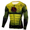Men's Compression Shirt Crossfit Long Sleeve T-shirt Men The Flash Print Fitness Top Workout Base Layer Brand