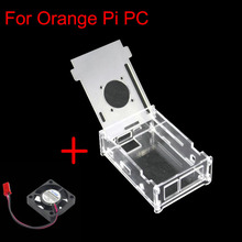 Acrylic Case with Cooling fan for Orange Pi PC Clear Case Plastic Enclosure Transperent Shell for Orange Pi PC and PC plus