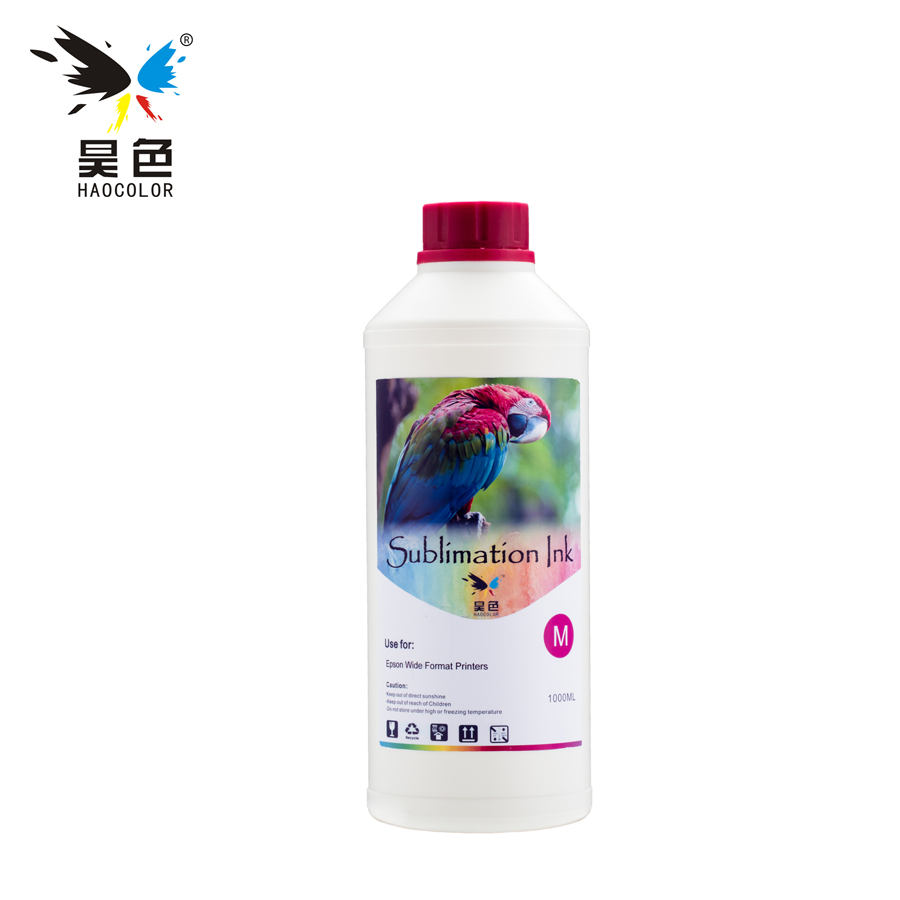 1000ML Magenta Sublimation Ink for Epson Printer Thermal Transfer in ink refill kit with heat transfer machine