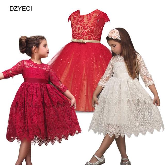 010fd927f81 DZYECI Costume de cérémonie de noël pour enfant en bas âge Fille robe enfant  Up robe