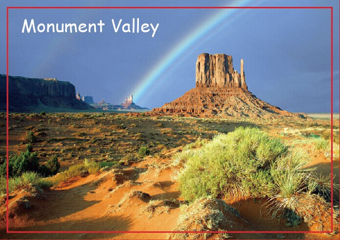 USA Travel Magnets Gifts Rainbow Over Monument Valley Travel Refrigerator Magnets 20539 Rectangle 78*54*3mm