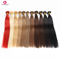 Aphro Hair Keratin U Tip Hair Extensions 0.5g/s 50g/lot Non Remy Human Hair Straight 18 24inch #1#1B#2#4#6#8#12#16#27#613#Red
