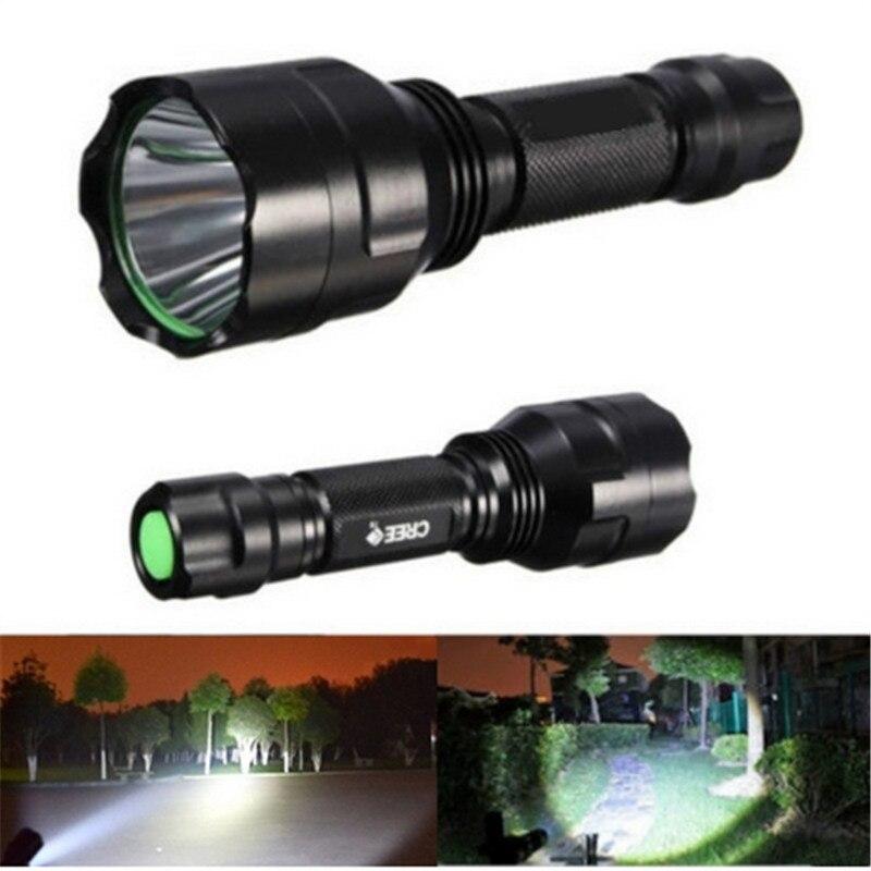 Hunting Flashlight XML-T6 LED Waterproof Lanterna 5 Modes C8 Flashlight Hiking Camping Light