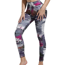 3D Digital Ink Printed Leggings For Women Girls Tracksuit Fitness Sportswear Workout Leggins High Waist Elastic Slim Pants