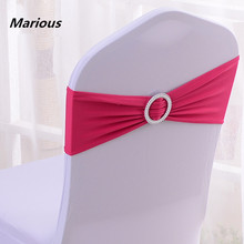 2015 lycra chair cover sashes with round plastic buckle for party decoration Factory Price & !