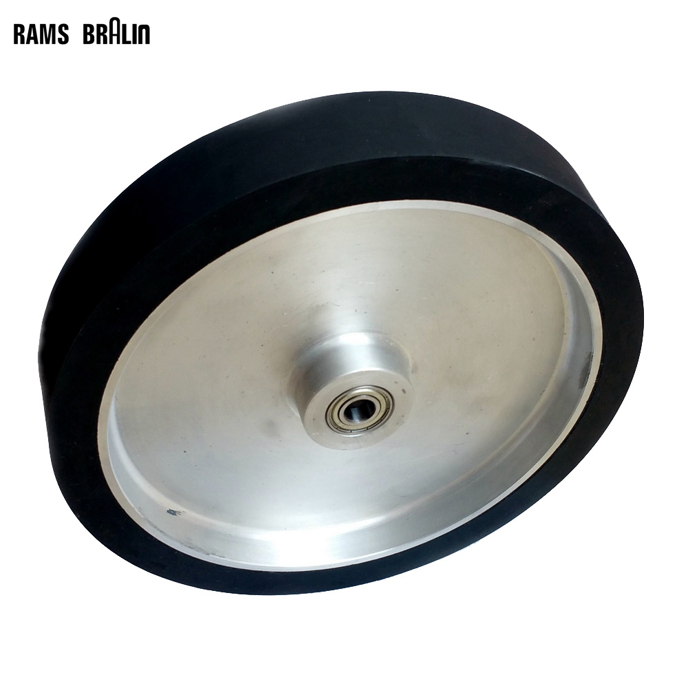 300*50mm Flat Belt Grinder Contact Wheel  Dynamically Balanced Rubber Polishing Wheel Abrasive Sanding Belt Set 300 50mm flat belt grinder contact wheel dynamically balanced rubber polishing wheel abrasive sanding belt set