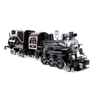 METTLE Handmade Weling Metal Steam Locomotive Train Model Loco Adult Toy Plaything Bauble Knickknack Coffee House