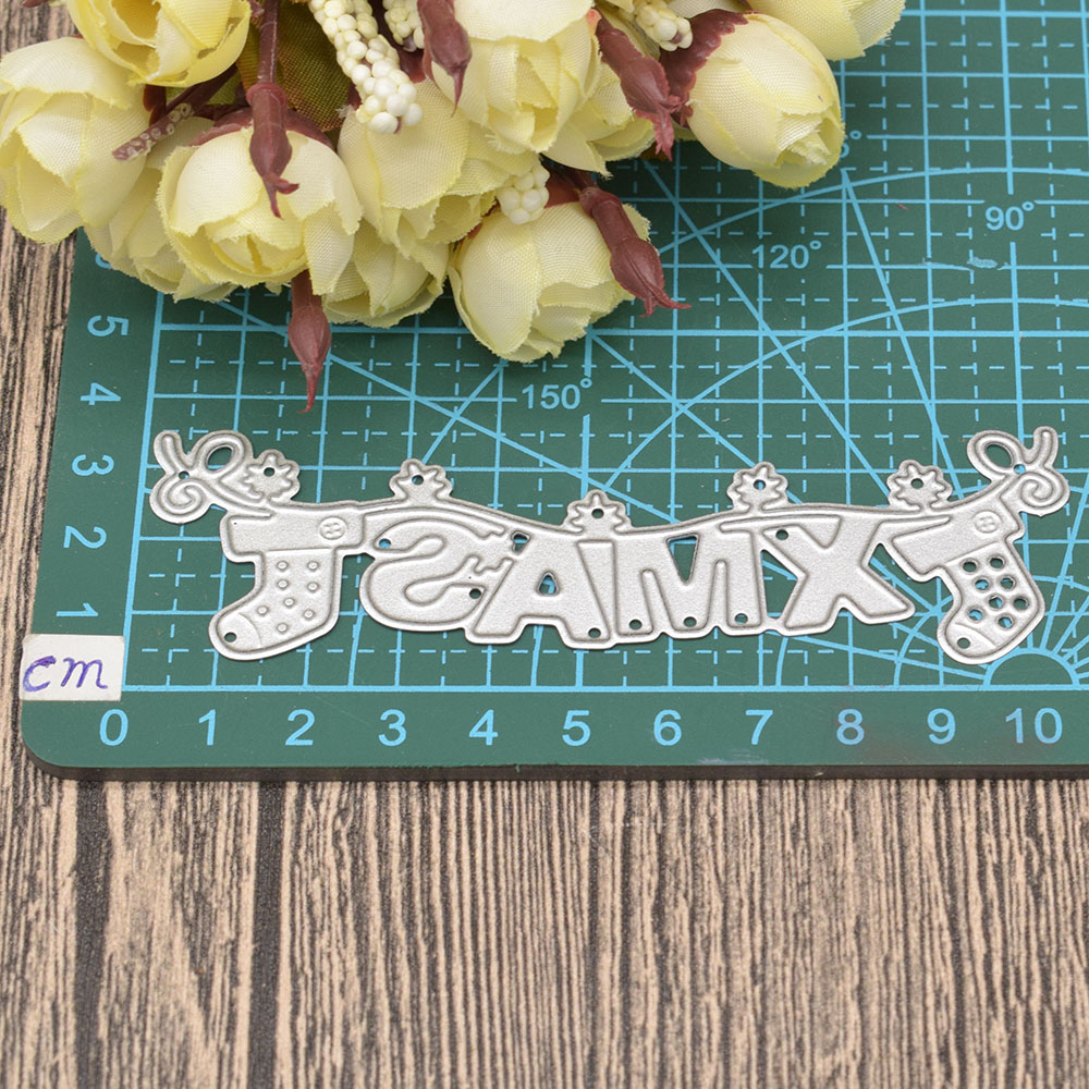 X 39 Mas Letter Metal Cutting Dies Words for Scrapbooking Album Christmas Card Making Paper Embossing Die Cuts in Cutting Dies from Home amp Garden