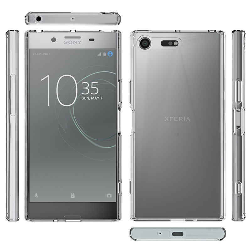 For Sony XZ Premium Case 5.5 inch Crystal Hybrid Bumper Clear Acrylic Back Cover For Sony Xperia XZ Premium Phone Cases ...