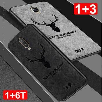 df01baebba0 Funda para Oneplus 6 T 3 fundas de tela de algodón Anti huellas dactilares  silicona suave + tela delgada cubierta de TPU OnePlus3 A3000 1 + 1 + 1 + 6  caso