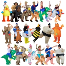 Holiday Carnival Costume Women Dinosaur Inflatable Funny Party Dress Animal Cosplay Halloween For Kids
