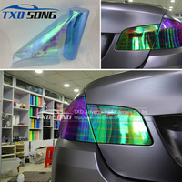 1 Roll Light blue Chameleon Transparent Car Headlight Changing Film 11 Colors chameleon Headlight tint film By Free Shipping