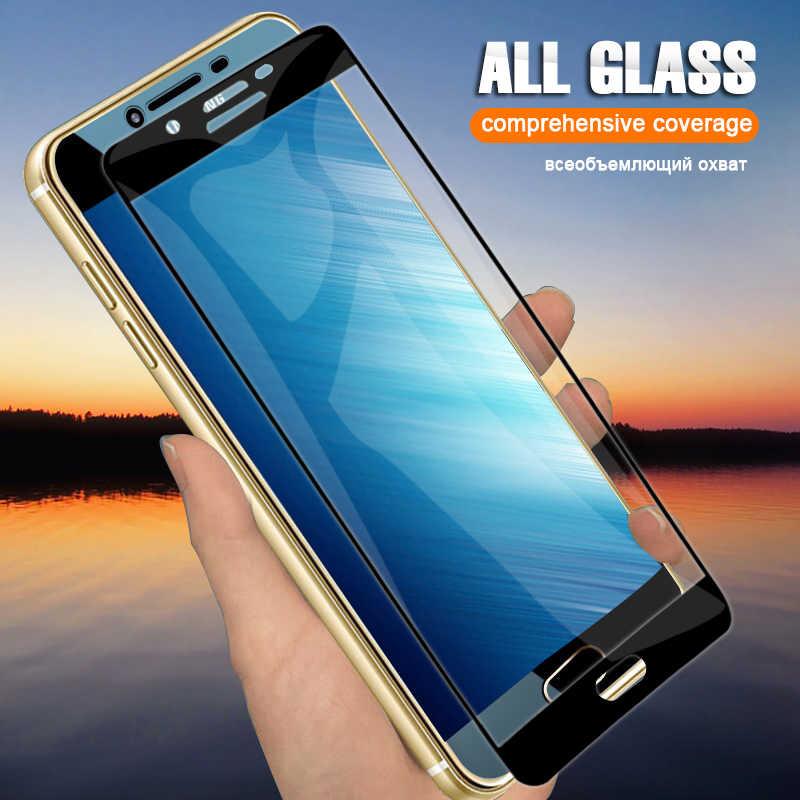 20 قطعة/الوحدة غطاء كامل المقسى زجاج عليه طبقة غشاء رقيقة لسامسونج A9 A8 زائد A7 A6 زائد J8 J4 J2Pro J7 J2 J6 2018 J5 واقي للشاشة HD
