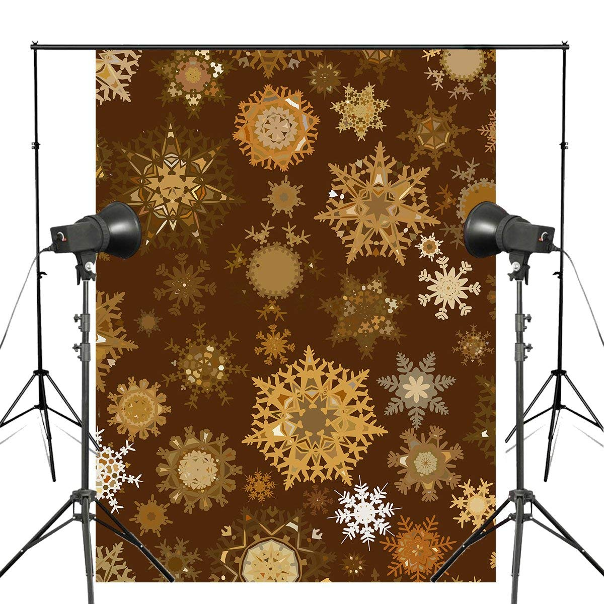 Yellow Snowflake Photography Backdrops Children Photo Studio Wallpaper 5x7ft-in Photo Studio Accessories from Consumer Electronics