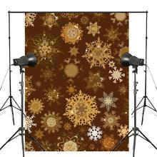 Yellow Snowflake Photography Backdrops Children Photo Studio Wallpaper 5x7ft