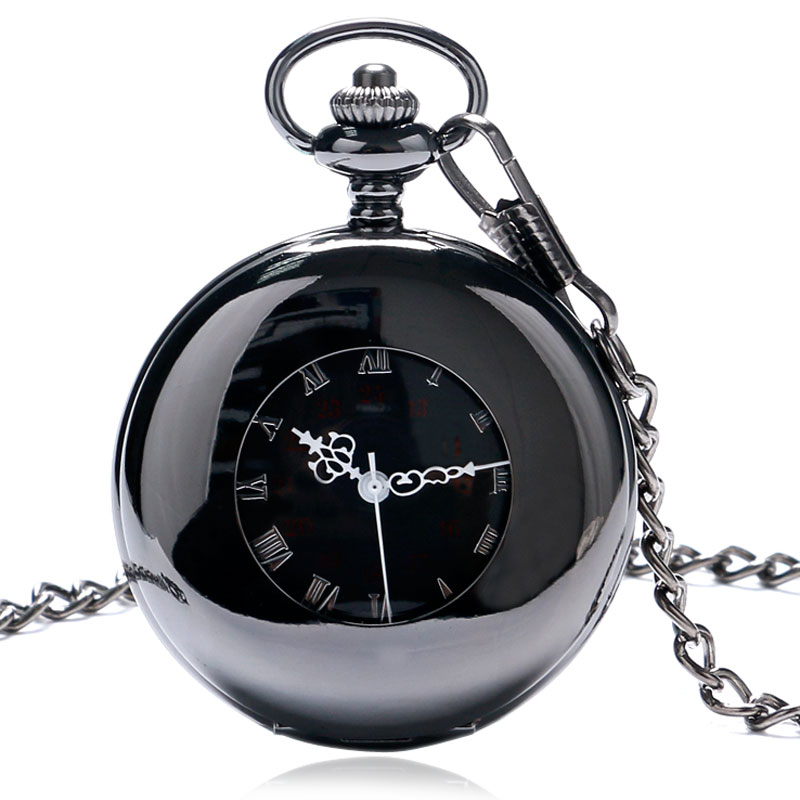 New Smooth Hollow Case Design White Roman Number Dial Mechanical Fob Pocket Watch With Chain Gift Classic Watches full hunter smooth cooper pocket watch skeleton roman numbers dial mechanical automatic fob hour antique gift for men women