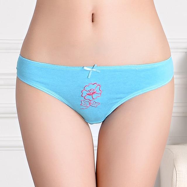 Pak 12 Bunga Bordir Kapas G-string Wanita Thong Sexy Lady celana dalam  Wanita Pakaian 36fb8883aa