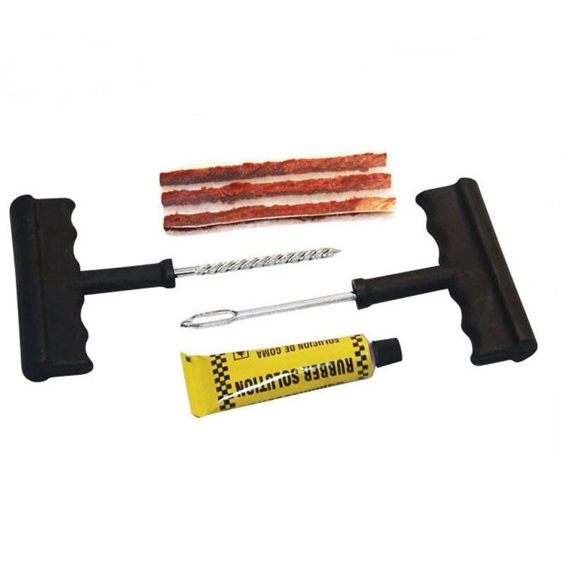 6pcs Car Tire Repair Tool Kit For Tubeless Emergency Tyre Fast Puncture Plug Repair Block Air Leaking For Car Truck Motobike