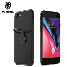 hot deal buy metrans iphone 8 simple bracket ring magnetic tpu protective case for iphone 8 ultra thin silicone case for iphone 8 phone cases