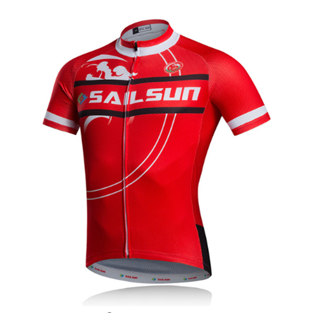 6bfb2b479 Hot Red SAIL SUN Men Cycling Jersey Top Crossrode Team Bike Clothing Pro  MTB Ropa Ciclismo Summer Cycling Wear Bicycle Shirts