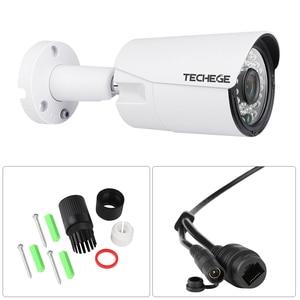 Image 2 - Techege 8CH 1080P system cctv zapis Audio 2MP PoE zestaw kamera IP 3000TVL Metal wodoodporna Night Vision system kamer bezpieczeństwa