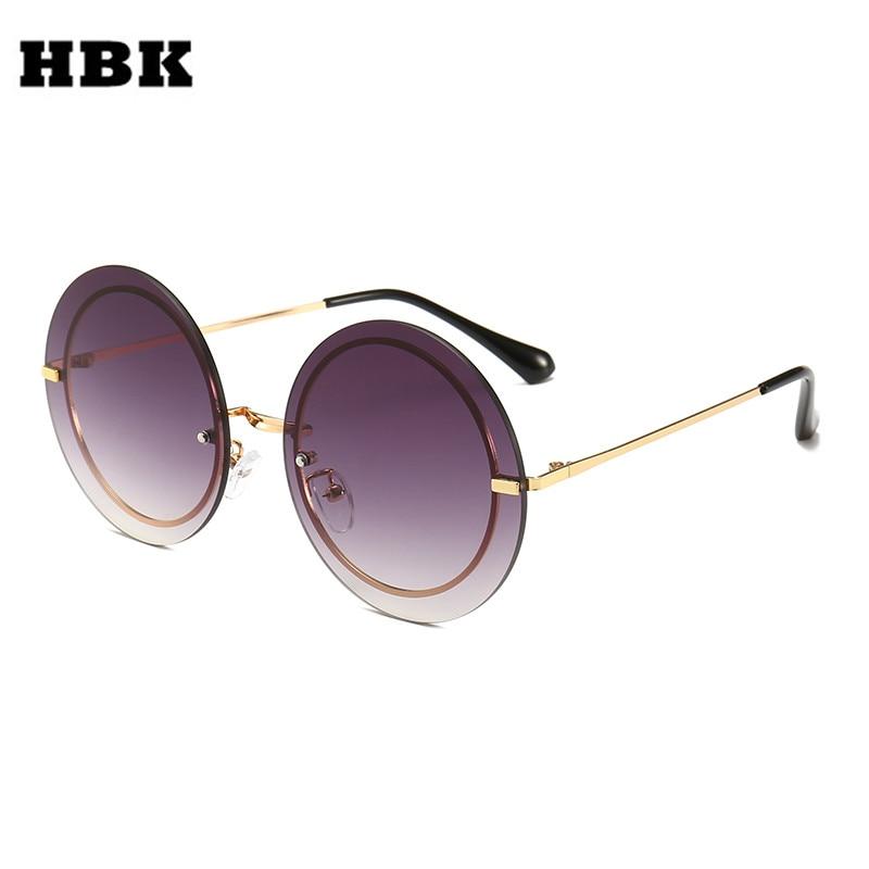 HBK Fashion Unisex Oversized Rimless Sunglasses 2019 New