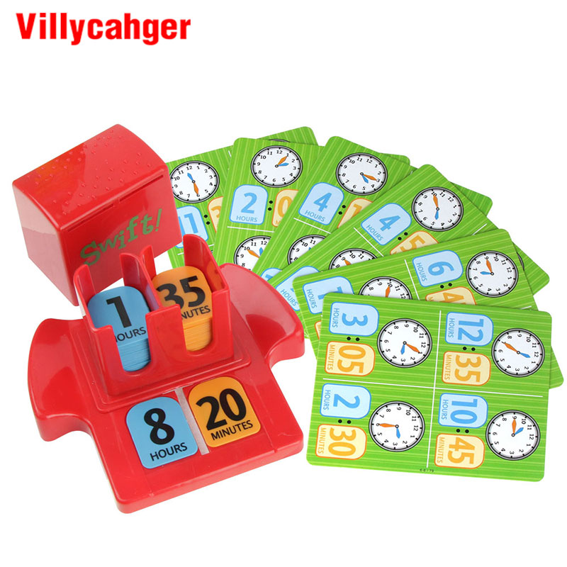 Kids Puzzle Game Bingo Game Time-Telling Early Education Desktop Toys  Improve Concentration Children's Puzzle Toy Party Gifts