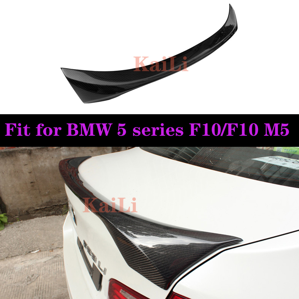 Rear Trunk Wings Real Carbon Spoilers For BMW 5 Series Sedan F10 M5 2010-2016