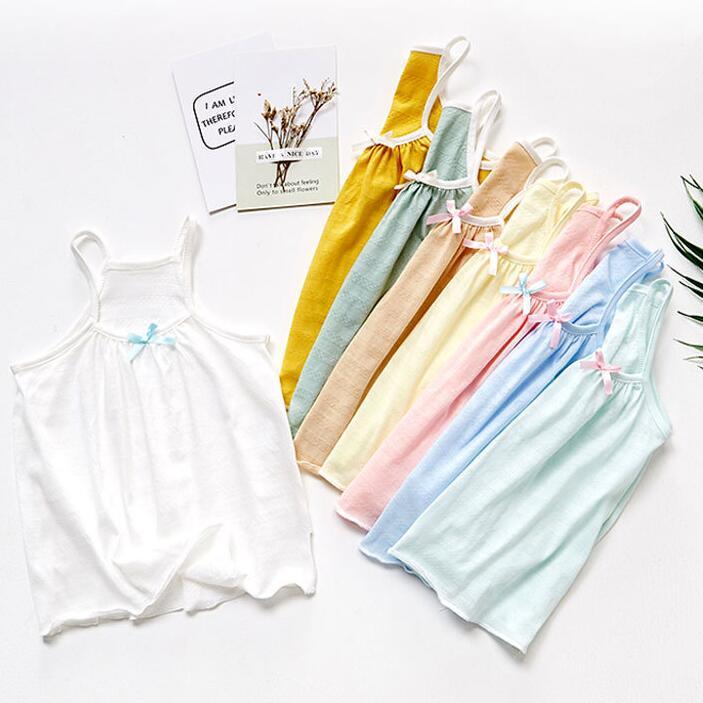 Flight Tracker 100% Baumwolle Sommer Neugeborenen Baby Mädchen T-shirts Ärmellose Baumwolle Infant Mädchen T Shirt Weste Unterhemden Schlaf Tragen
