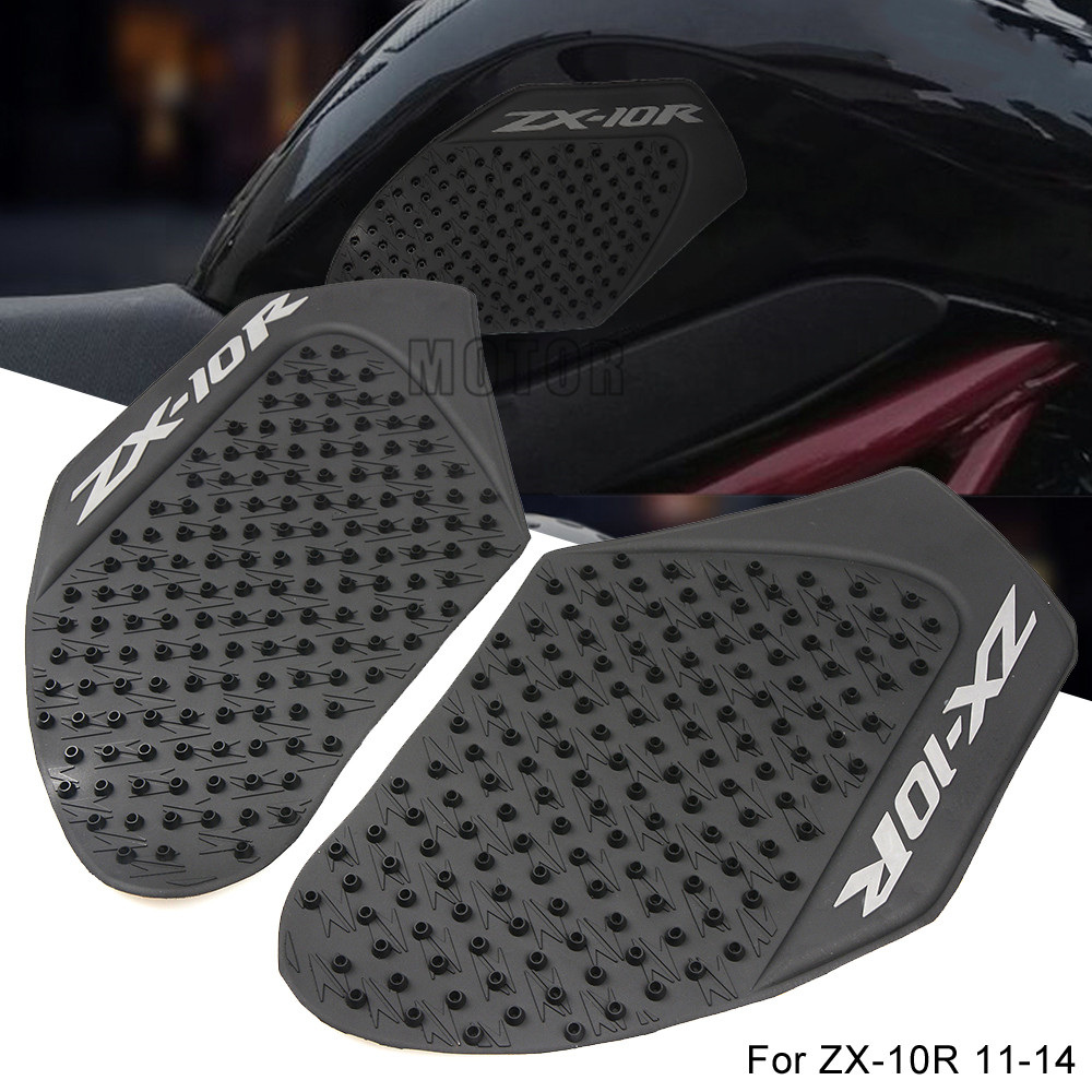 Motorcycle Accessories & Parts For Kawasaki Zx-10r Zx10r Zx 10r 2011-2014 2012 2013 Motorcycle Anti Slip Gas Oil Fuel Tank Traction Pad Protector Decal Sticker Preventing Hairs From Graying And Helpful To Retain Complexion