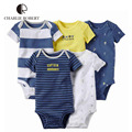 5Pcs Baby Clothing Clothes For Baby Boy Bodysuit Short Sleeve Newborn Infant Jumpsuits Kids Summer Clothing Baby Clothes HK1214