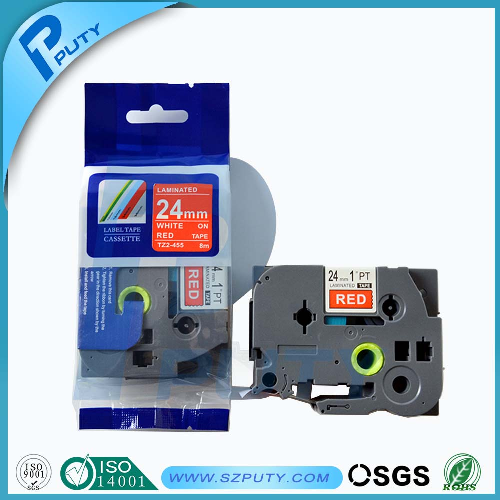 24mm White On Red P Touch Label Maker Cassette Tz Tape Tze 455 Brother 242 18mm Tze242 In Printer Ribbons From Computer Office Alibaba Group
