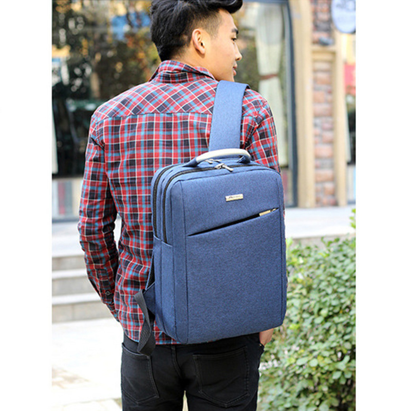 Slim laptop backpack brands fashion laptop bag two compartments anti theaf men business laptop backpack