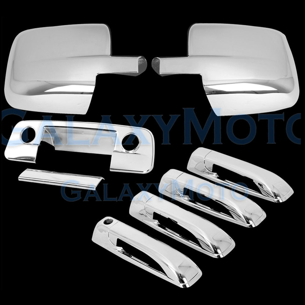 XYIVYG 2009-16 for Dodge Ram Chrome ABS Mirror Without Turn Signal Light +4 Door Handle+Tailgate KH Cover 1500 2500 3500 door mirror turn signal light for mercedes benz w163 ml270 ml230 ml320 ml400 ml350 ml500 ml430 ml55