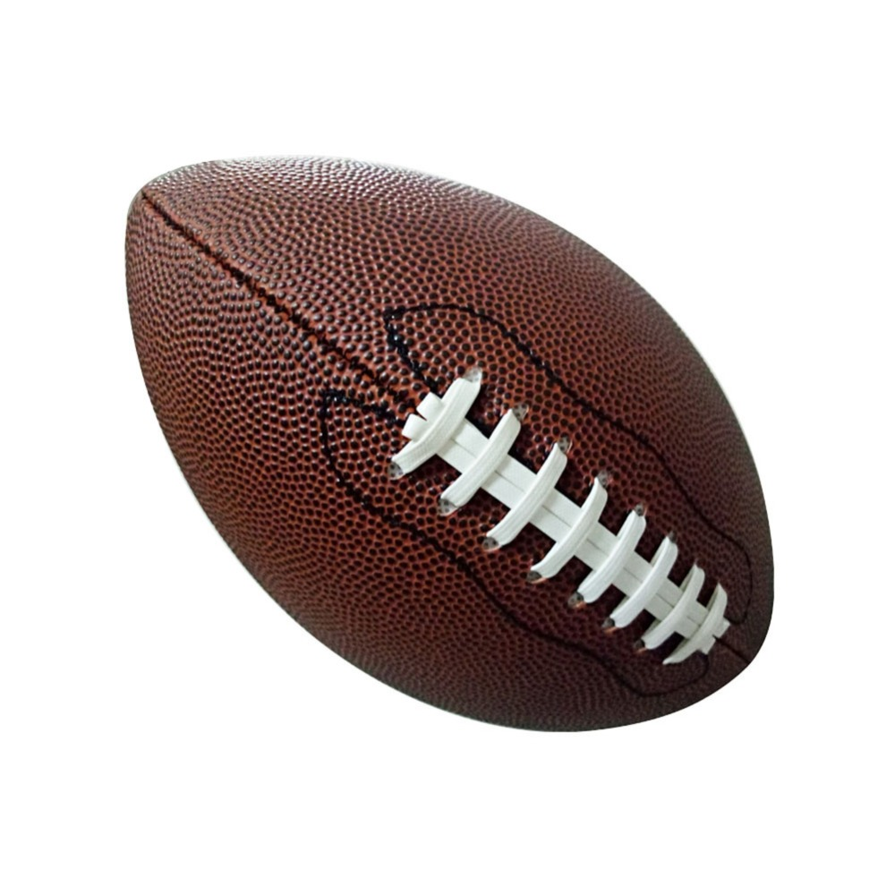 1pc Rubber/Leather No. 9 Rugby Ball American Football Training Ball Sport Match Sport Standard Rugby for Kids Men Wo0men