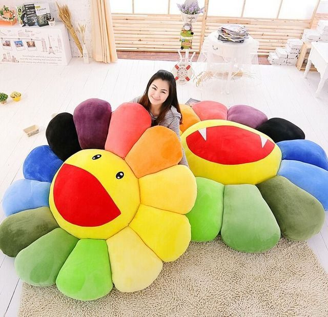 Colorful sunflower lie prone to lie prone pillow office nap pillow car pillow cushion for leaning on Children's day gift